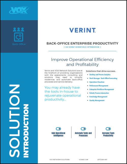 Verint Back Office