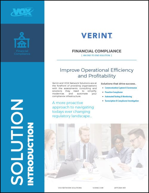 Verint Financial Compliance