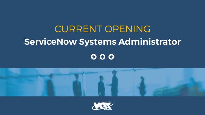 System Admin, ServiceNow